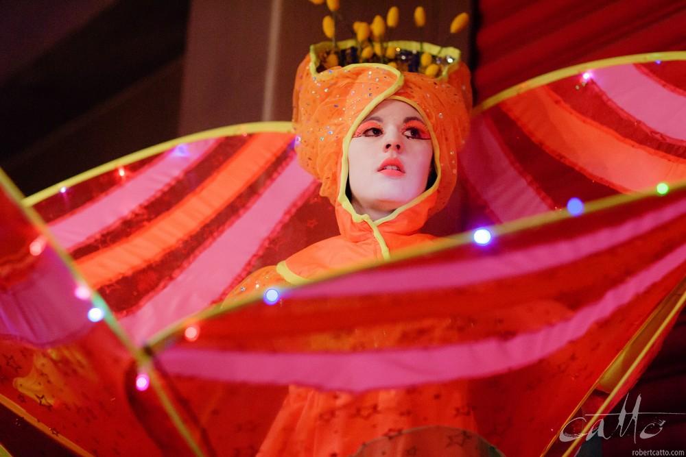 Empress Stiltdance at the Cuba St Carnival, 2009
