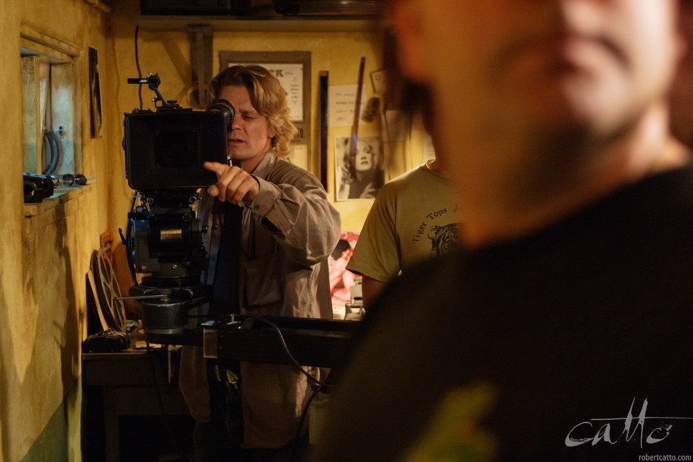Cinematographer James Cowley at work on Dead Letters, 2005