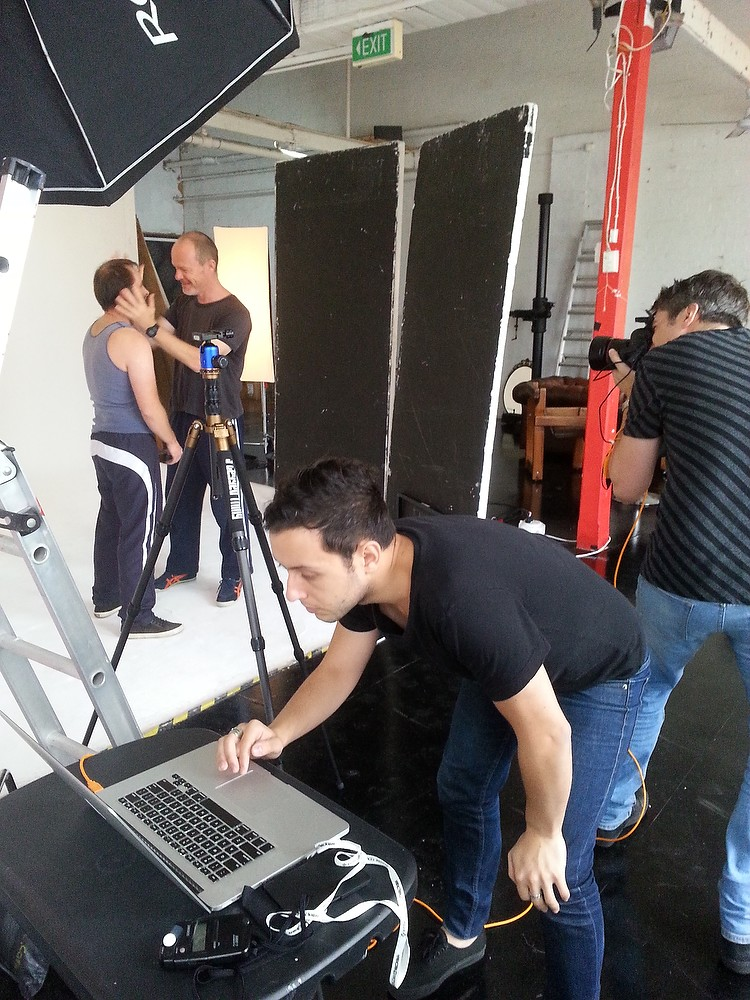 Behind the scenes image by Noel Hodda