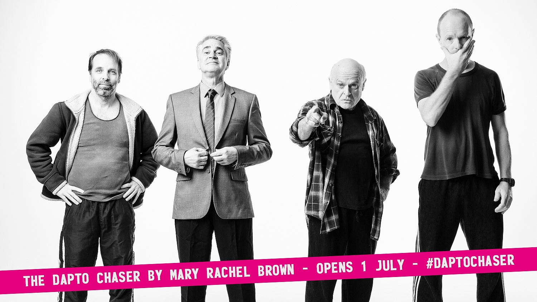 The Dapto Chaser cast:  Jamie Oxenbould,  Noel Hodda,  Danny Adcock, &  Richard Sydenham {click to embiggen)