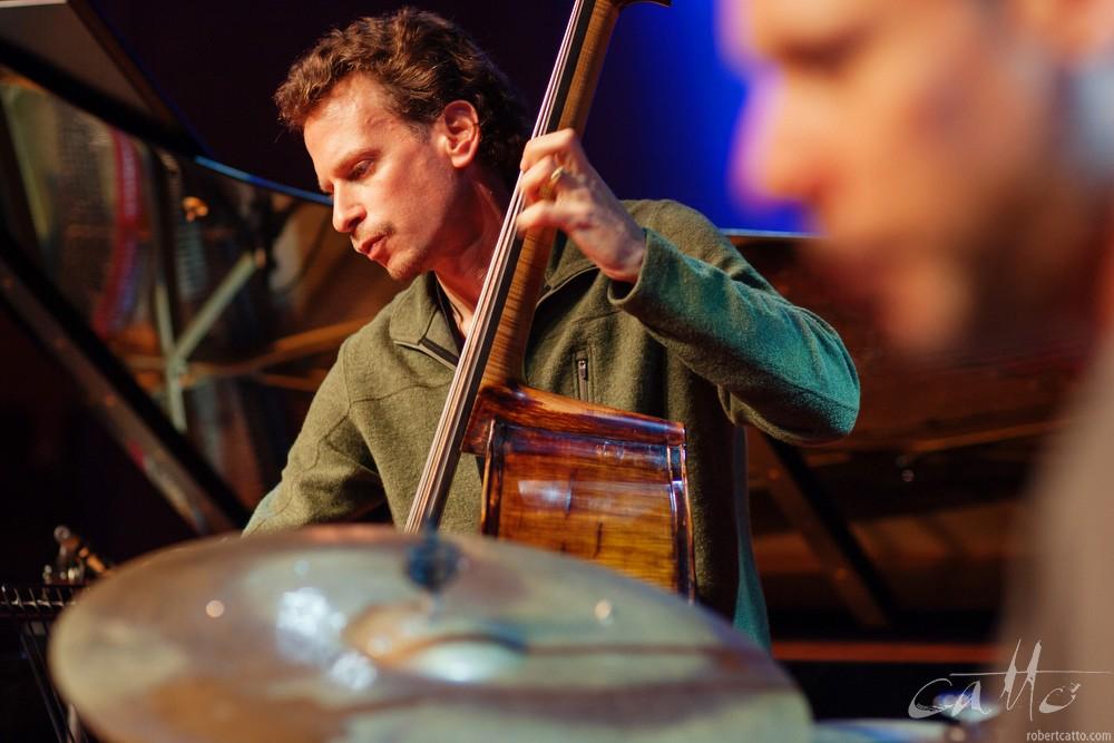 The Brad Mehldau Trio sound checkat theWellington Jazz Festival, 2009.