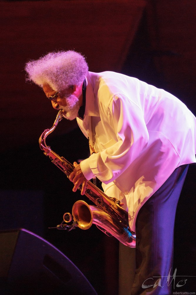 Jazz legend Sonny Rollins performs at the Michael Fowler Centre in New Zealand, as part of the Wellington International Jazz Festival 2011.