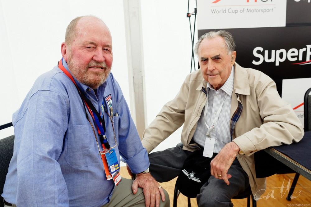 Eoin Young and Sir Jack Brabham.
