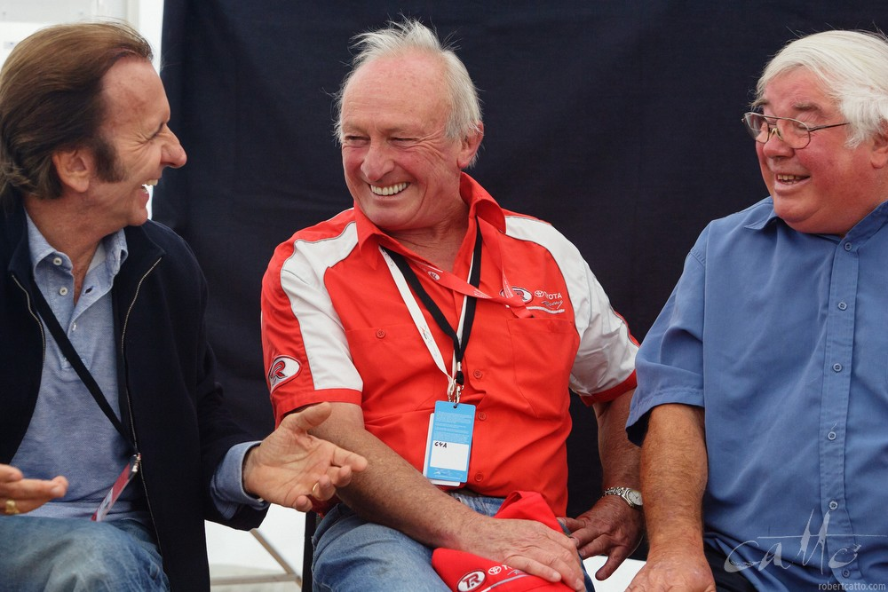 Emerson Fittipaldi, Chris Amon and Bruce Harre