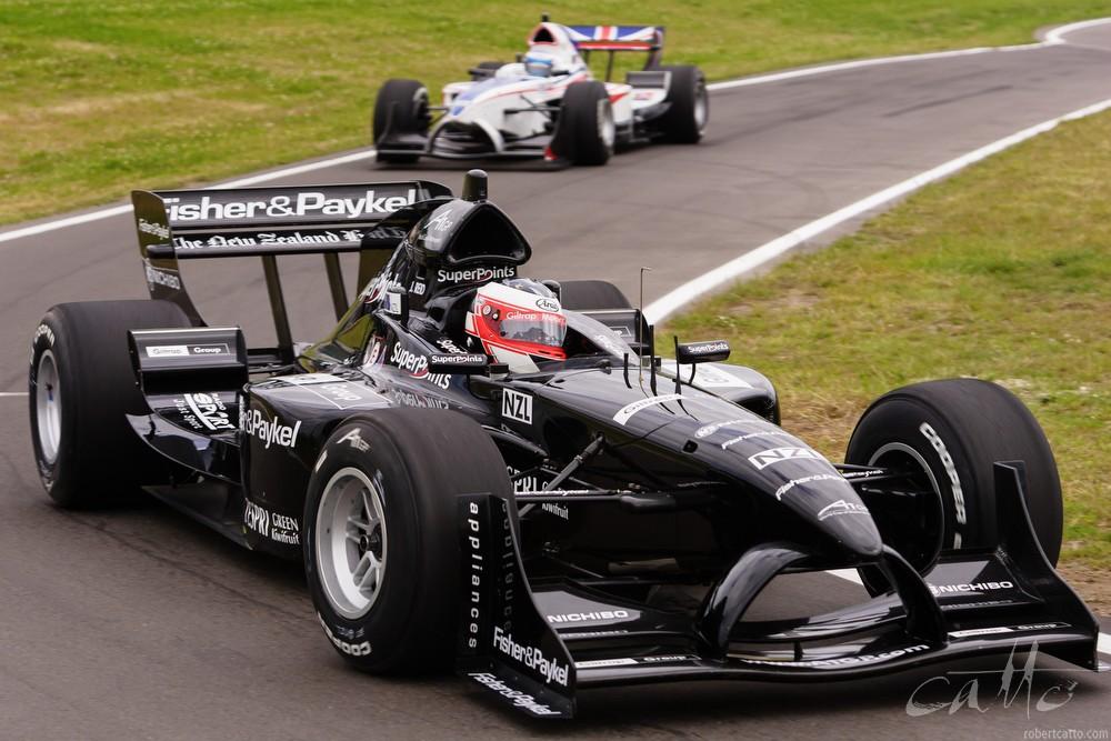 Jonny Reid driving for Team New Zealand