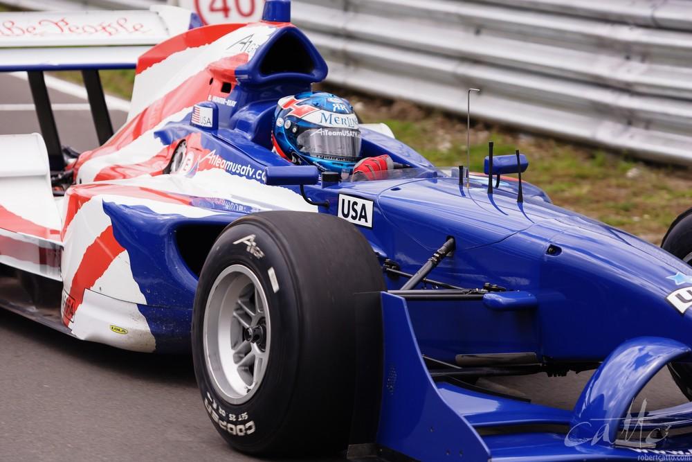 Ryan Hunter-Reay driving for Team USA.