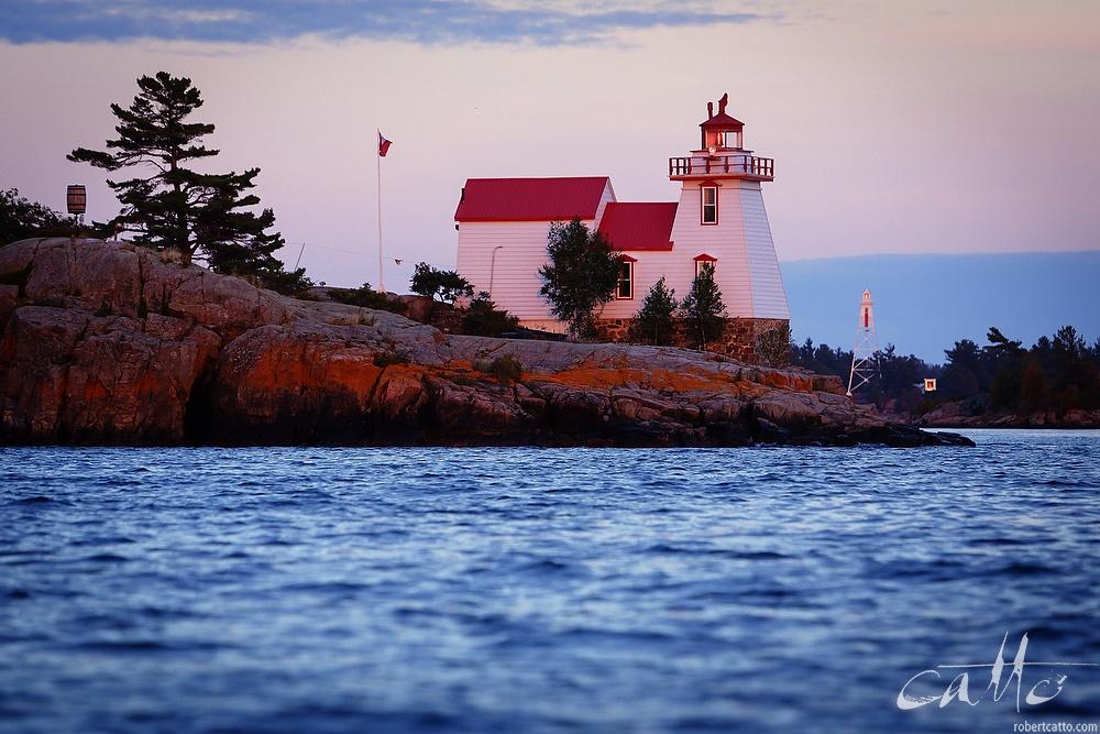 Pointe-au-Baril Lighthouse, on Georgian Bay in Canada, 2006