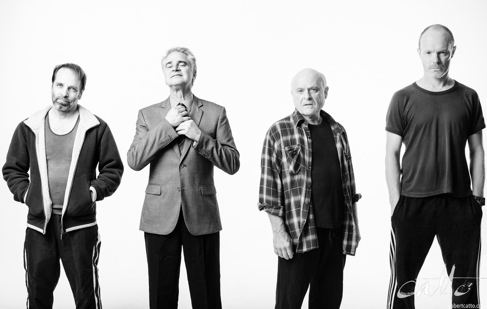 The Dapto Chaser cast: Jamie Oxenbould, Noel Hodda, Danny Adcock & Richard Sydenham in an alternate promo image.