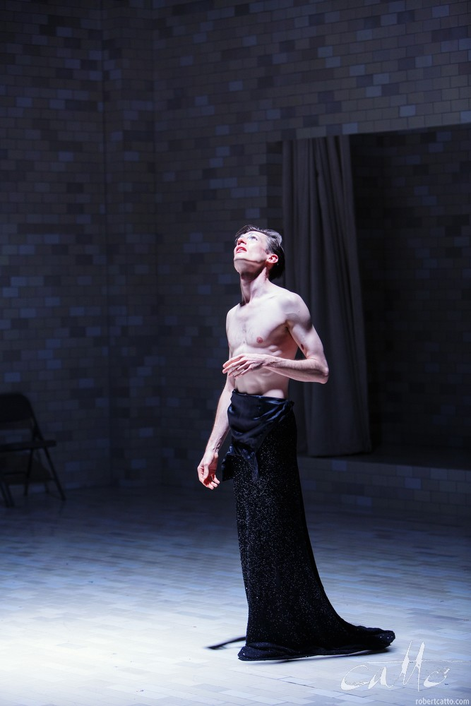Luke Mullins in Angels In America, at Belvoir Theatre
