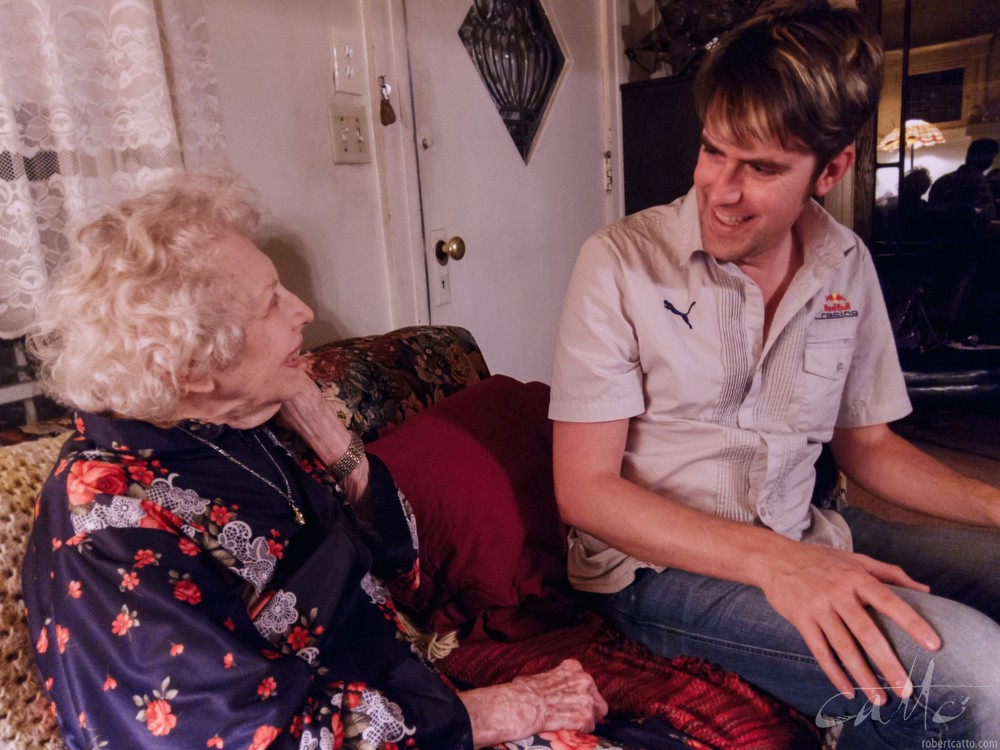Chatting with Carla Laemmle at her home in Los Angeles, 2011