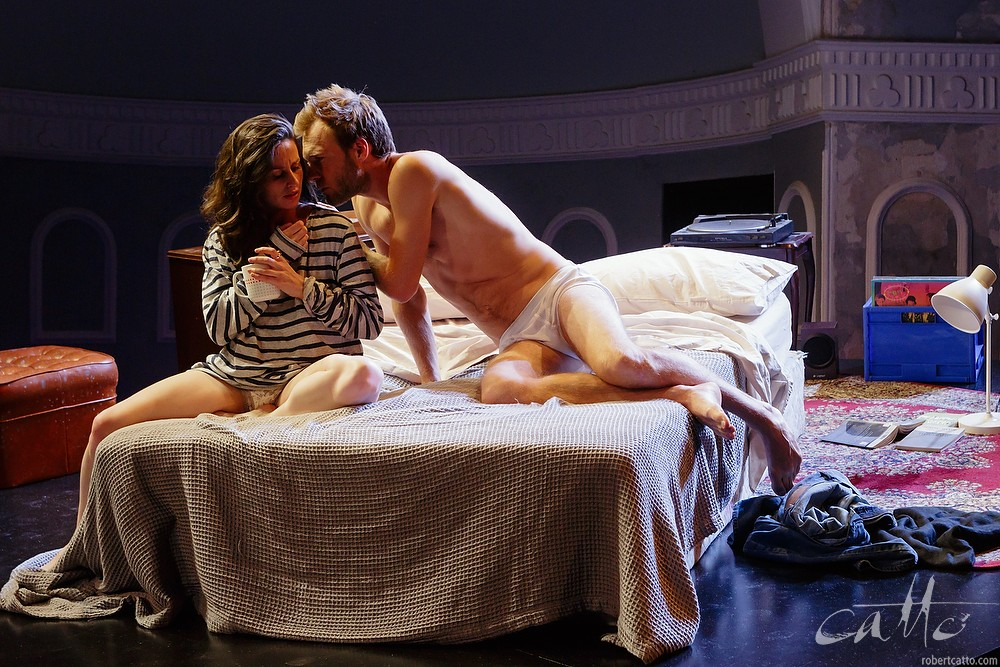 Tom O'Sullivan and Emma Palmer in Ride at the Darlinghurst Theatre Company, Sydney.