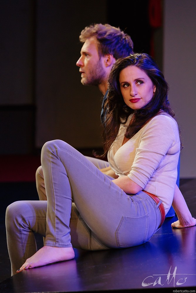 Tom O'Sullivan and Emma Palmer in Fourplay at the Darlinghurst Theatre Company, Sydney.