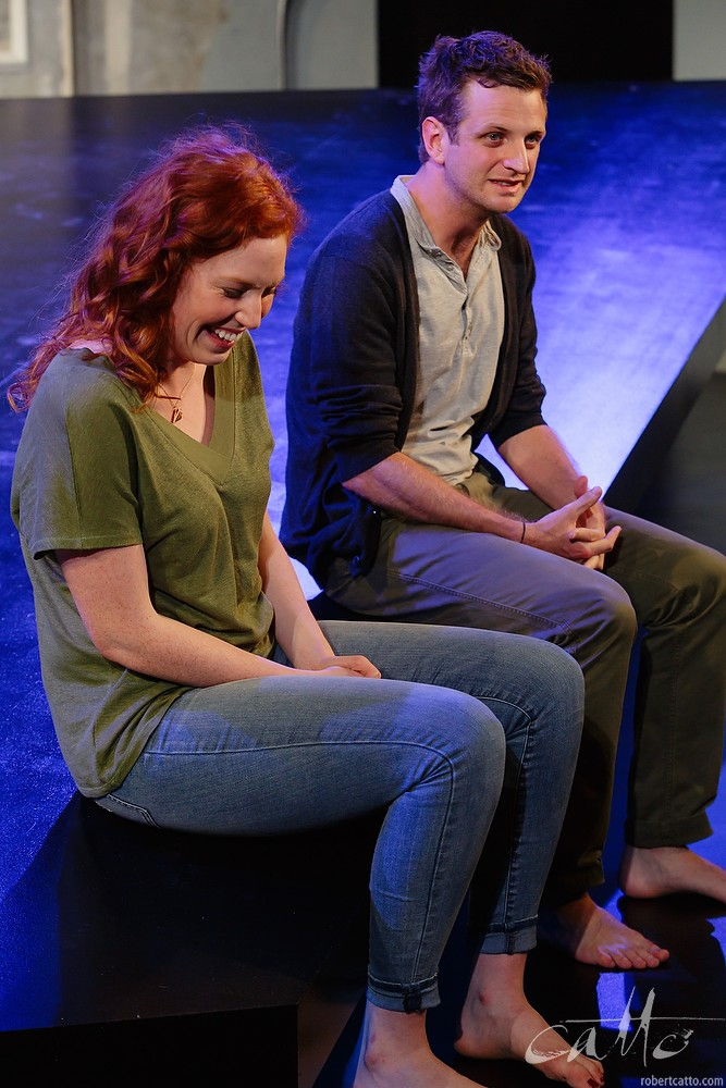 Gabrielle Scawthorn and Aaron Glenane in Fourplay at the Darlinghurst Theatre Company, Sydney.