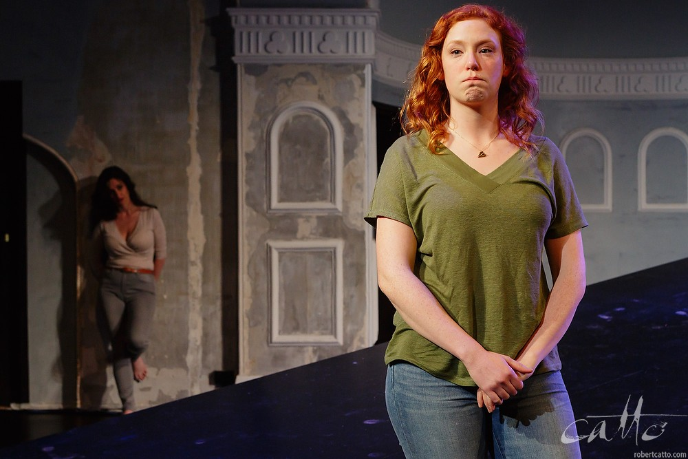 Emma Palmer and Gabrielle Scawthorn in Fourplay at the Darlinghurst Theatre Company, Sydney.