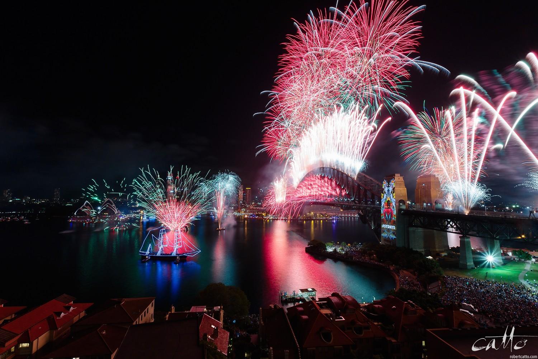 Sydney Fireworks from Kirribilli, New Year's Eve 2015