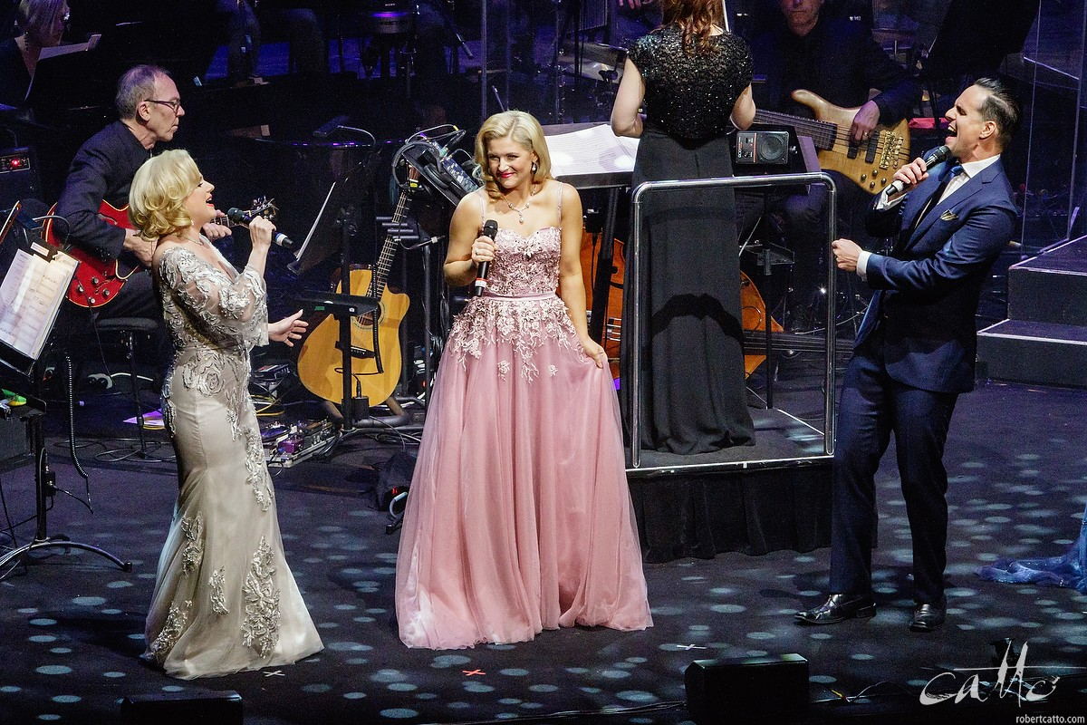 Helen Dallimore, Lucy Durack and Ben Lewis