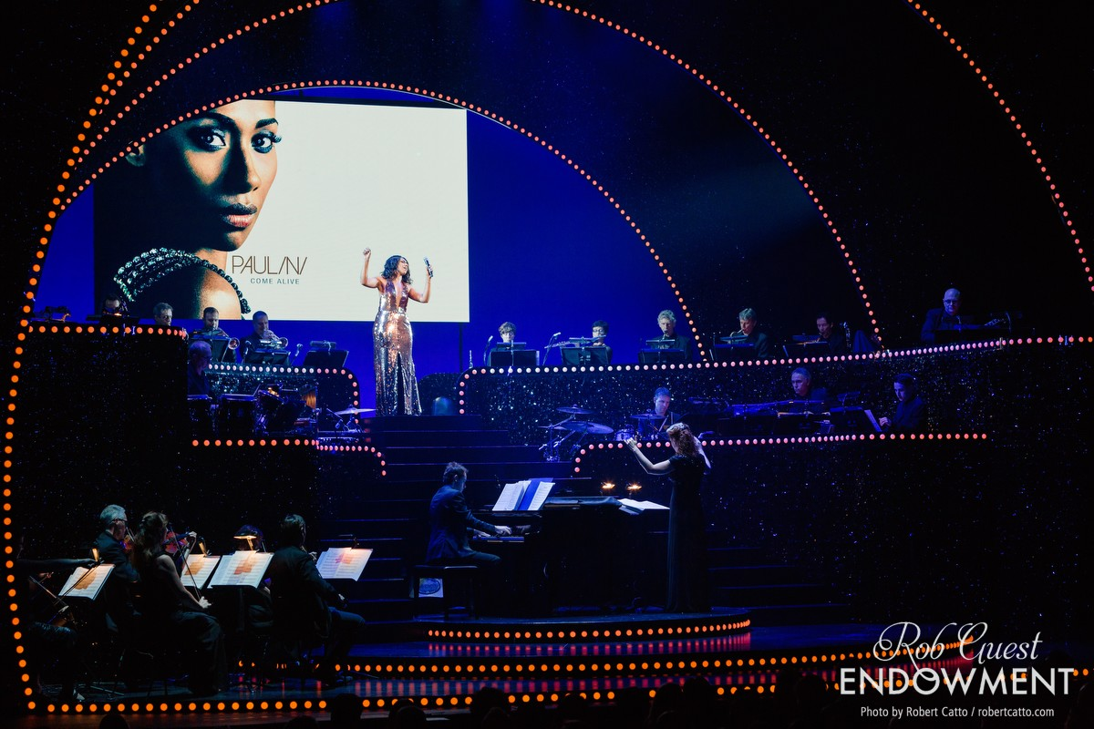 Special guest Paulini performs 'I Have Nothing' from The Bodyguard.