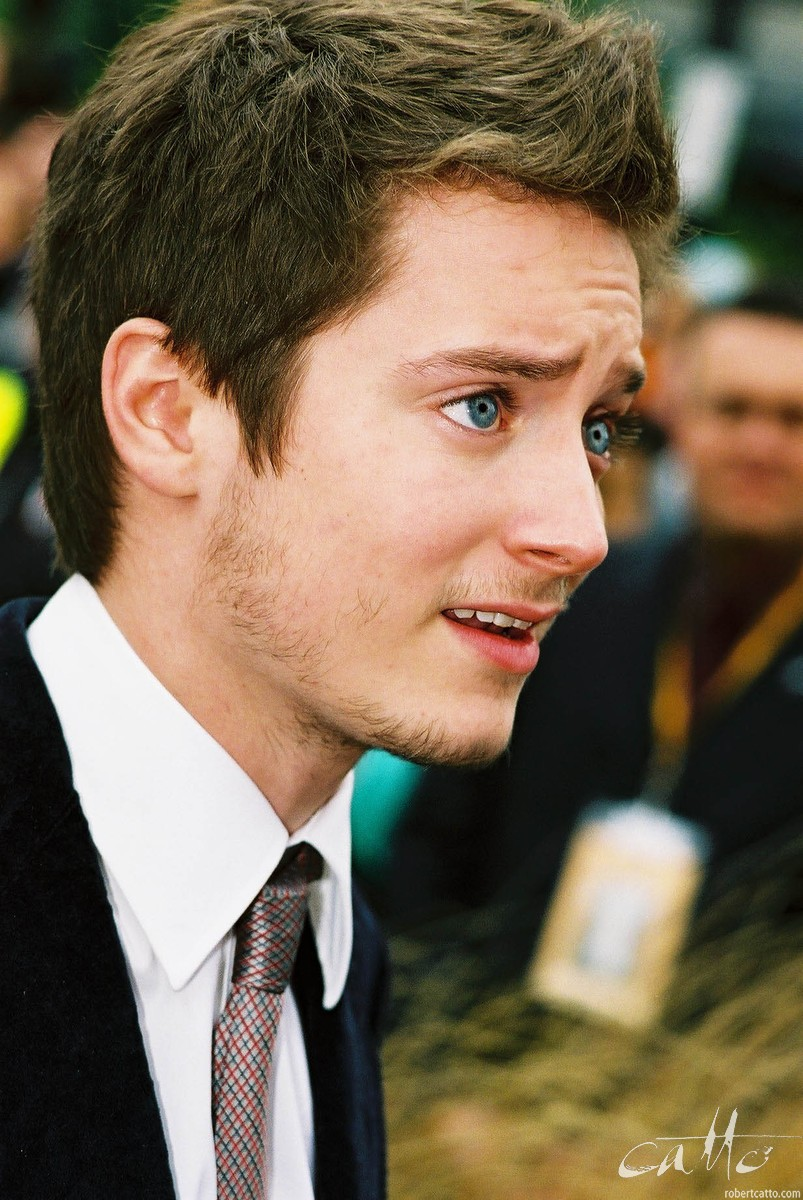 Elijah Wood at the Lord Of The Rings: Fellowship Of The Ring Premiere at the Embassy Theatre, Wellington, New Zealand.