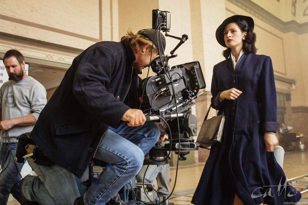 James Cowley filming Yvette Reid for Dead Letters, 2005