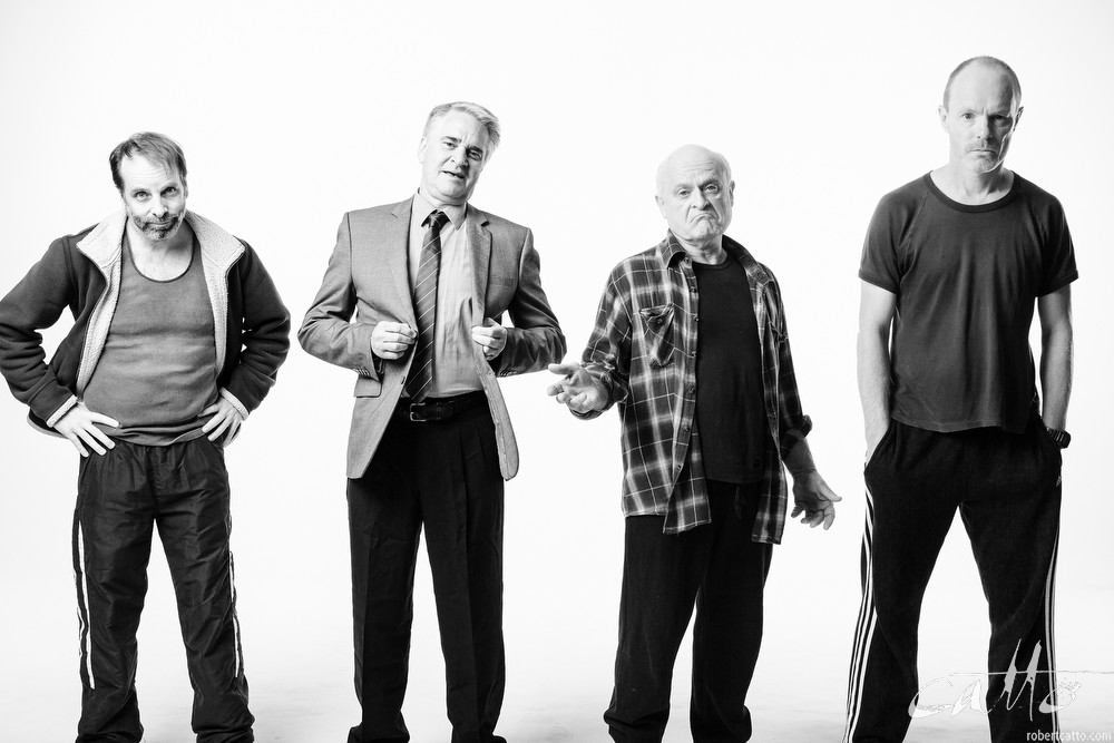 Jamie Oxenbould, Noel Hodda, Danny Adcock and Richard Sydenham in a promotional image for The Dapto Chaser, 2015