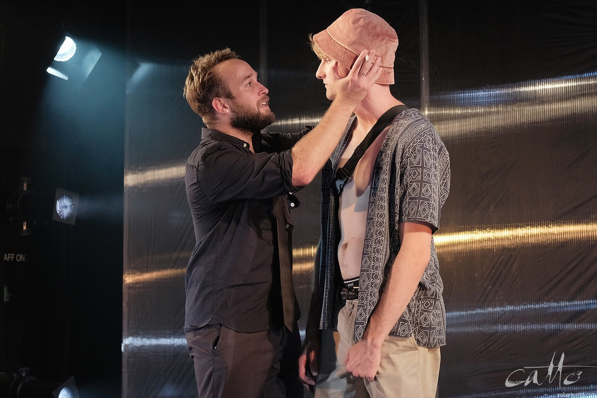 David Harrison as Ted with Jack Crumlin as Danny in Wasted