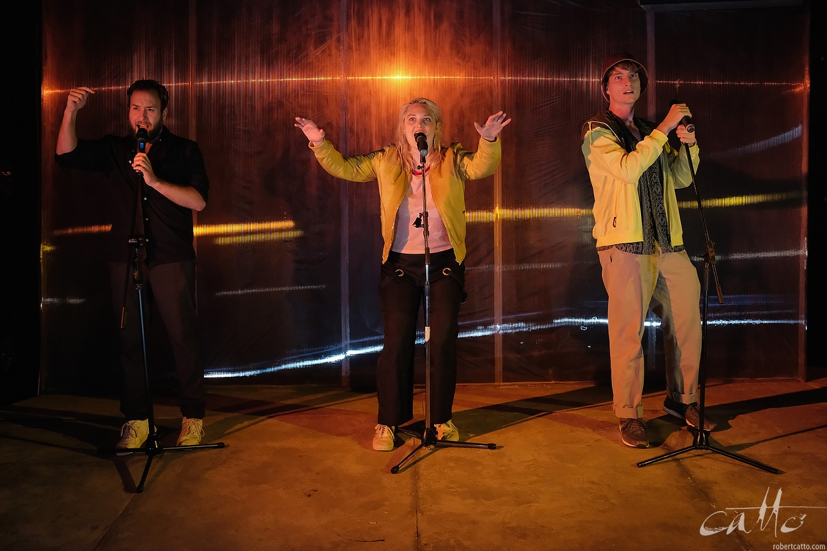 David Harrison as Ted,Eliza Scott as Charlotte, and Jack Crumlin as Danny in Wasted