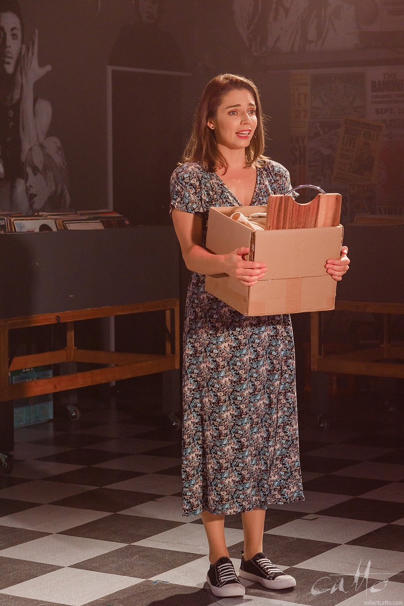 Teagan Wouters as Laura in High Fidelity at the Hayes Theatre