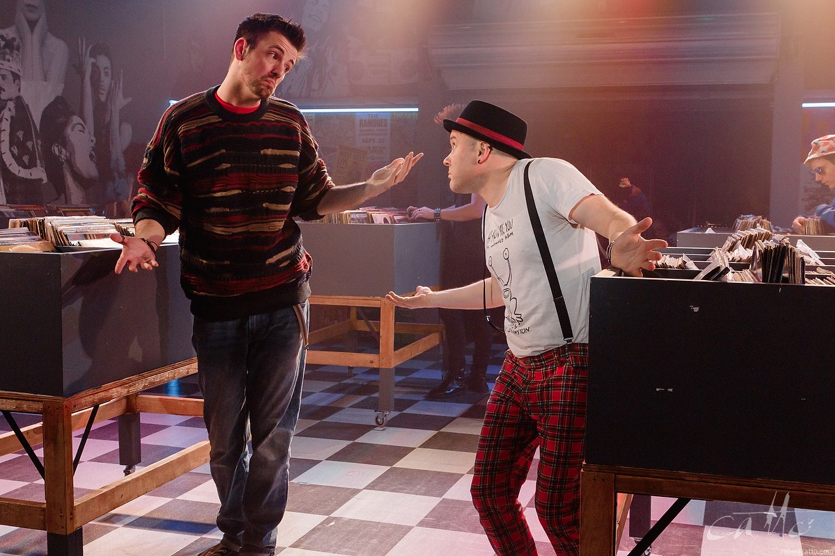 Toby Francis and Dash Kruck in High Fidelity at the Hayes Theatre
