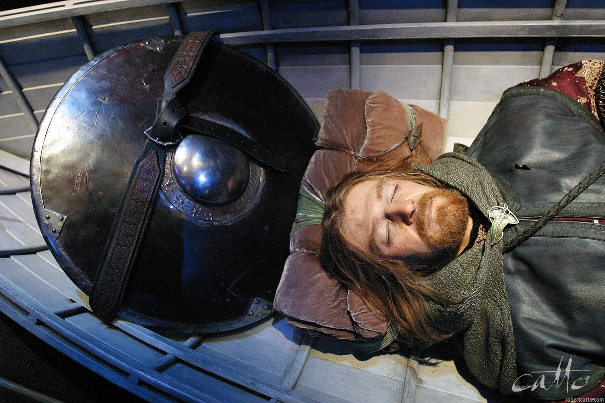 A model of Sean Bean as Boromir showing Weta Workshop's incredible work,at the Lord Of The Rings exhibition.