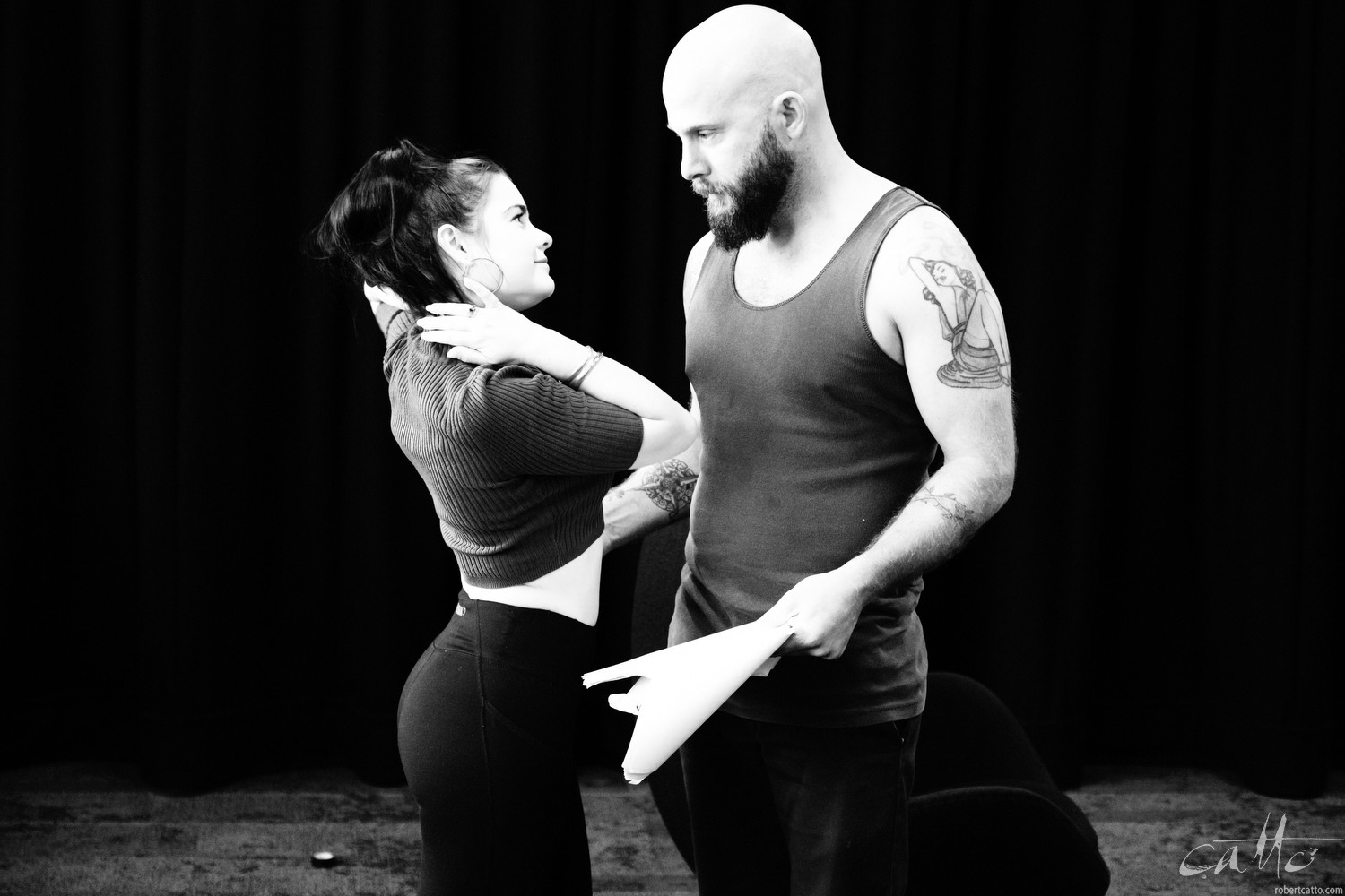 Chloe Bayliss and Yure Covich in rehearsal for Home Invasion (Fuji X-H1 with 16-55mm f/2.8)
