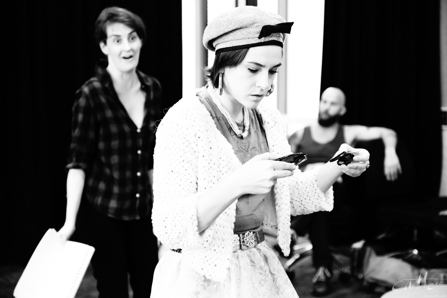 Cecilia Morrow and Kate Cheel Morgan Maguire in rehearsal for Home Invasion (Fuji X-H1 with 16-55mm f/2.8)