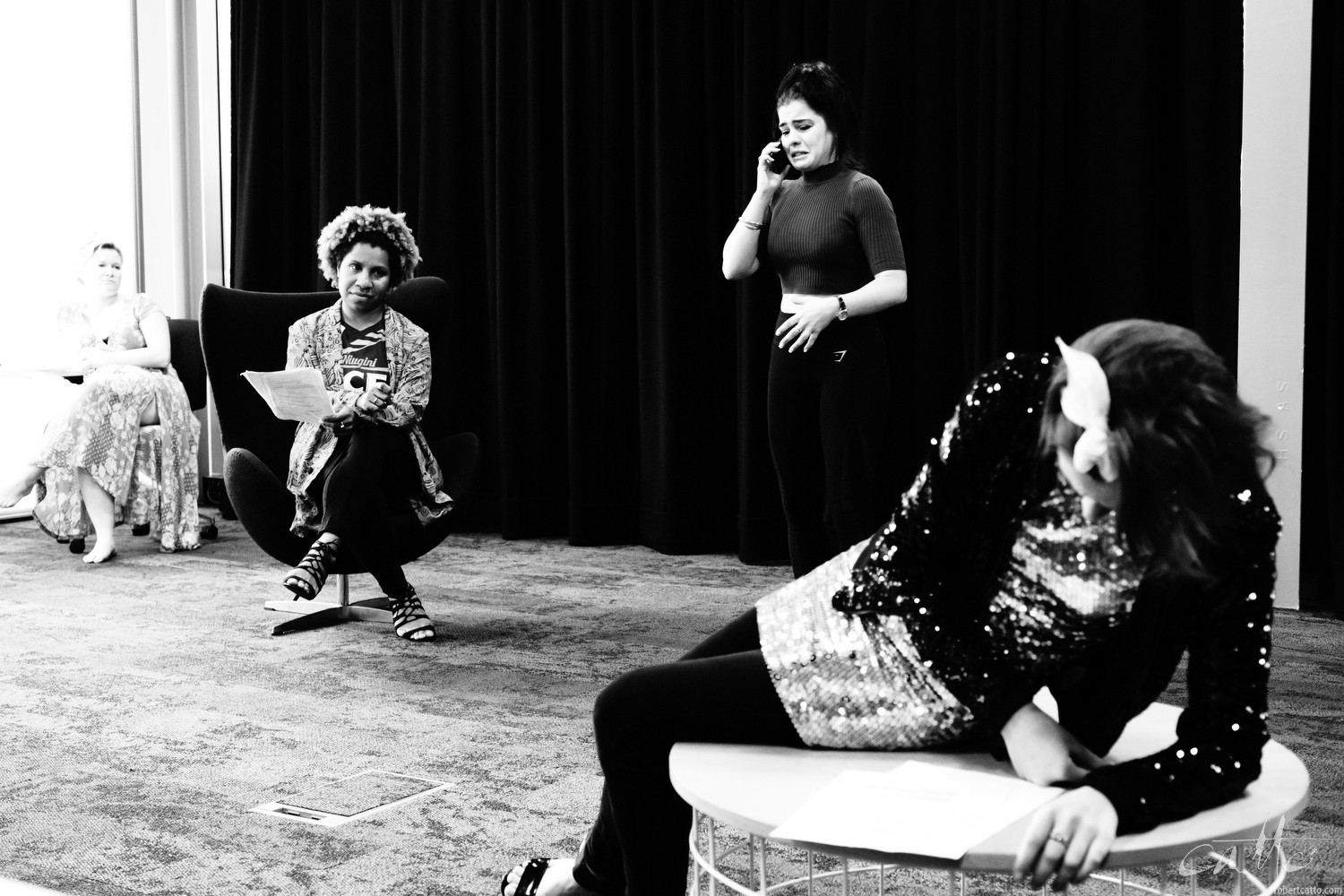 Wendy Mocke, Chloe Bayliss and Kate Cheel Morgan Maguire in rehearsal for Home Invasion (Fuji X-H1 with 16-55mm f/2.8)