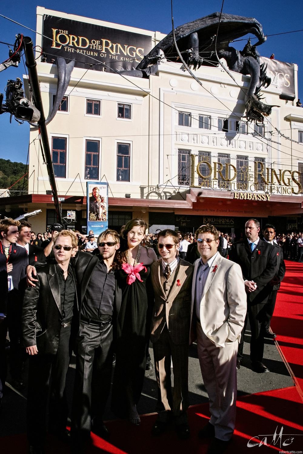 Billy Boyd, Dominic Monaghan, Liv Tyler, Elijah Wood and Sean Astin are reunited at the World Premiere of The Lord Of The Rings: Return Of The King.