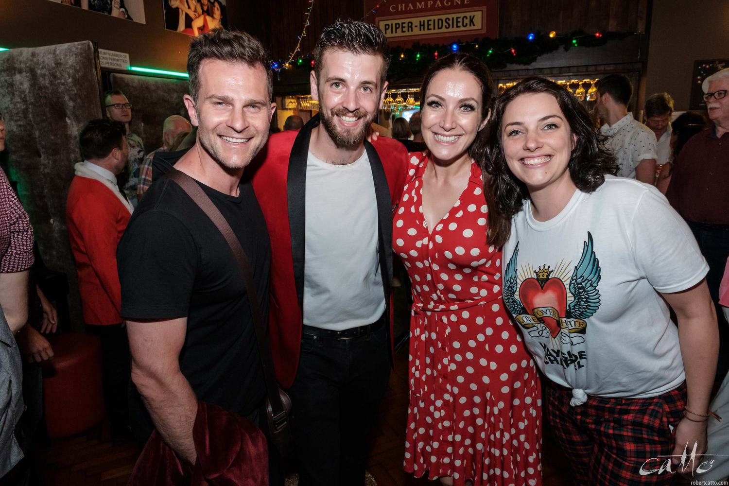 David Campbell, Toby Francis, Lisa Campbell and producer Lauren Peters celebrate another successful event.