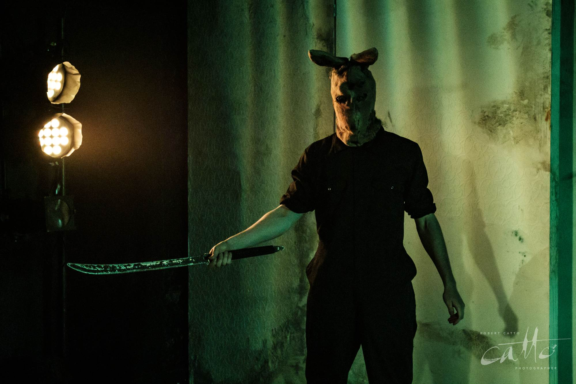 Joshua McElroy in Alice In Slasherland at the Old Fitz Theatre, Wooloomooloo.