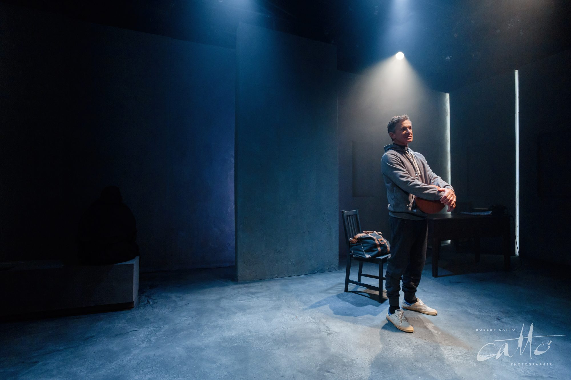 Damien De Montemas in Doubt: A Parable, at the Old Fitz Theatre.