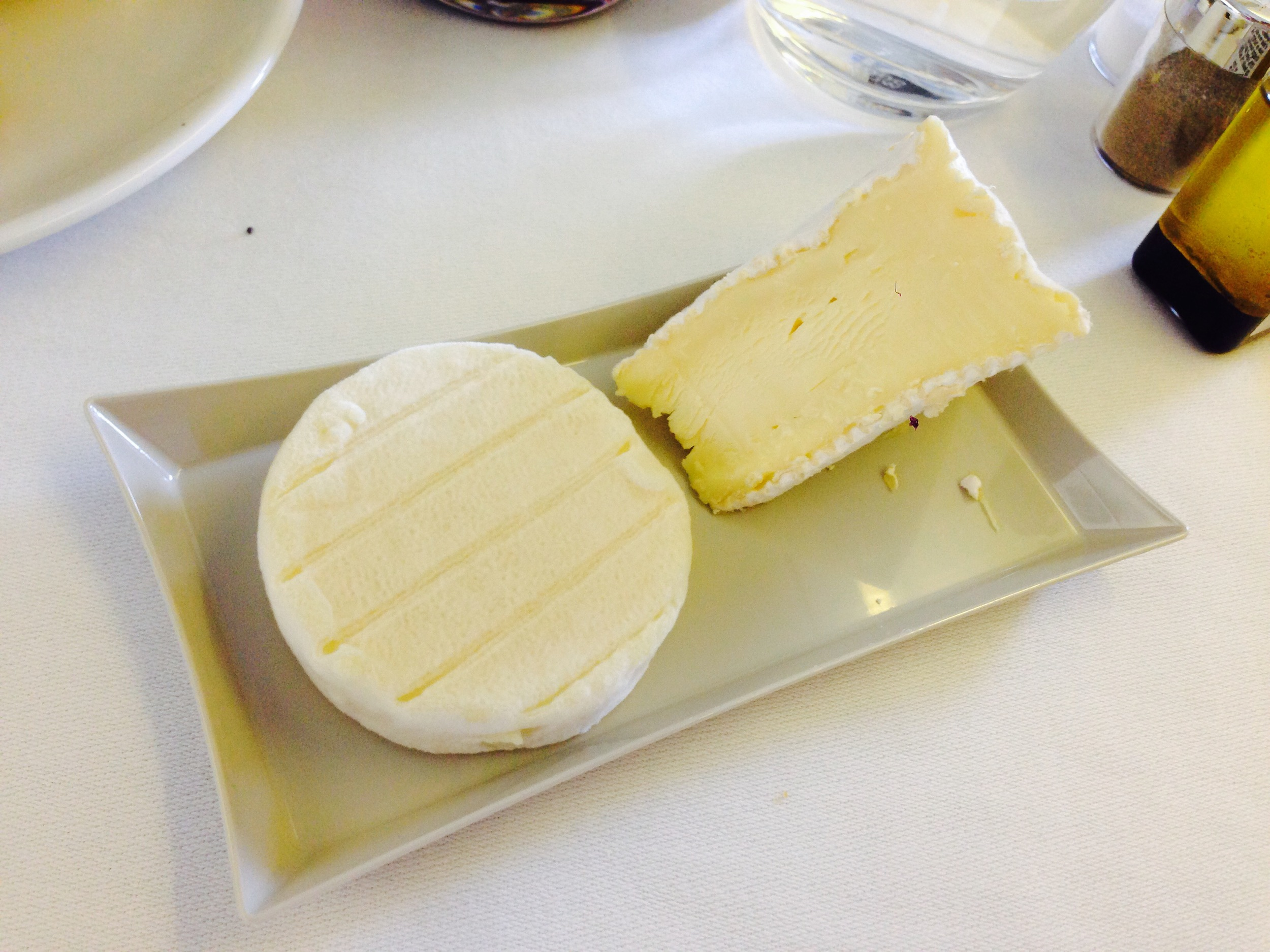 Air France's cheese plate. Give it the swerve.
