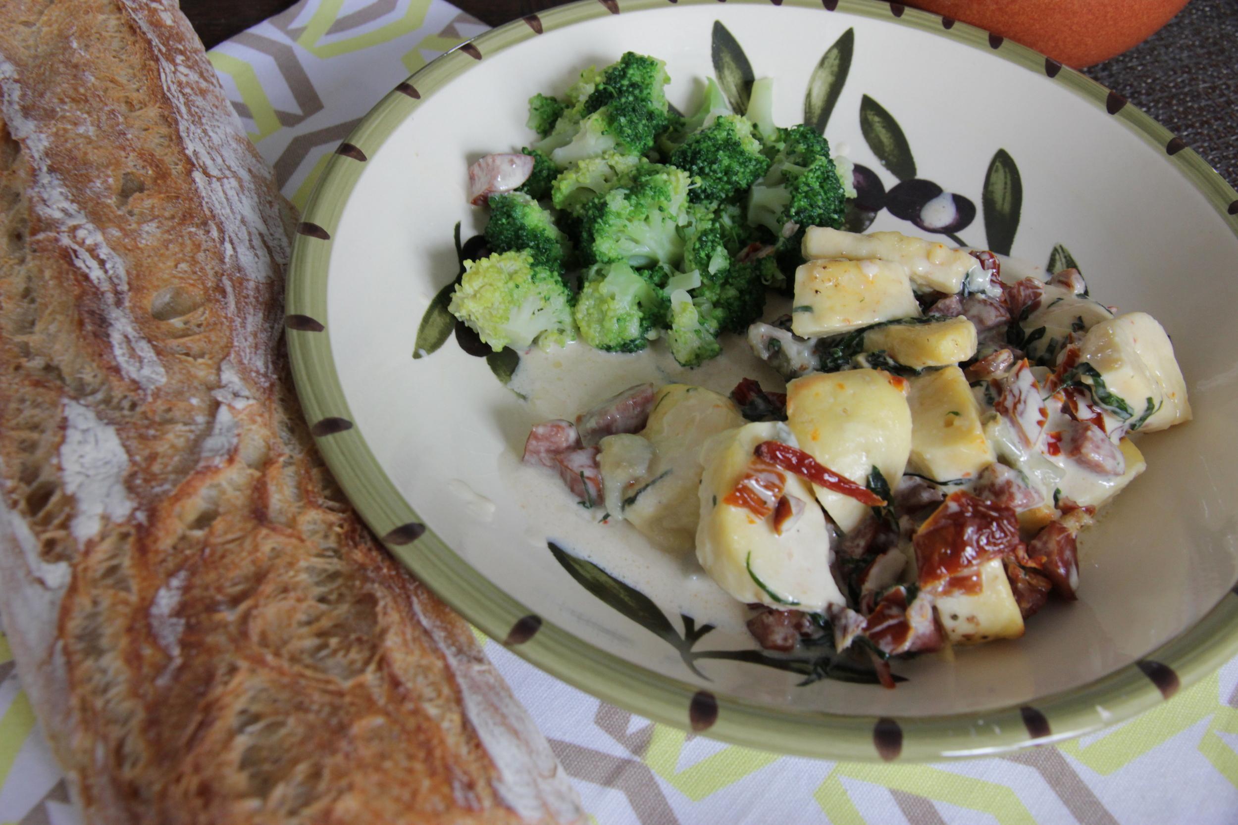 gratin-quenelles-poulet-gorgonzola