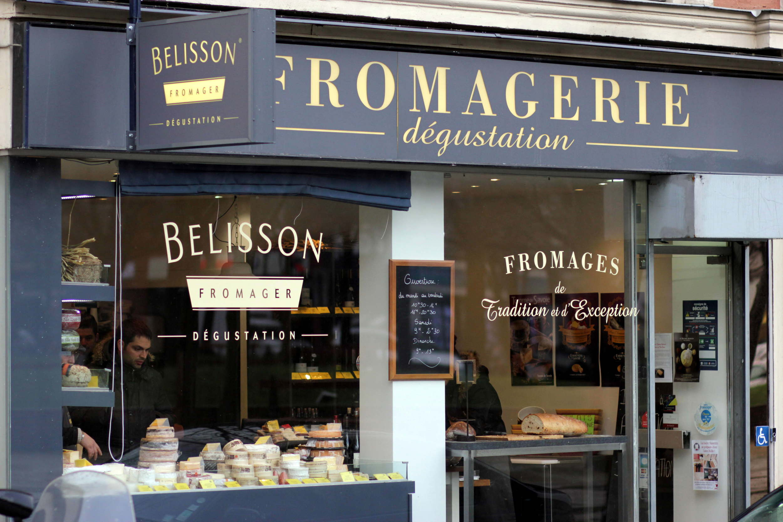 A small shop, but personal service and, above all, great cheese.