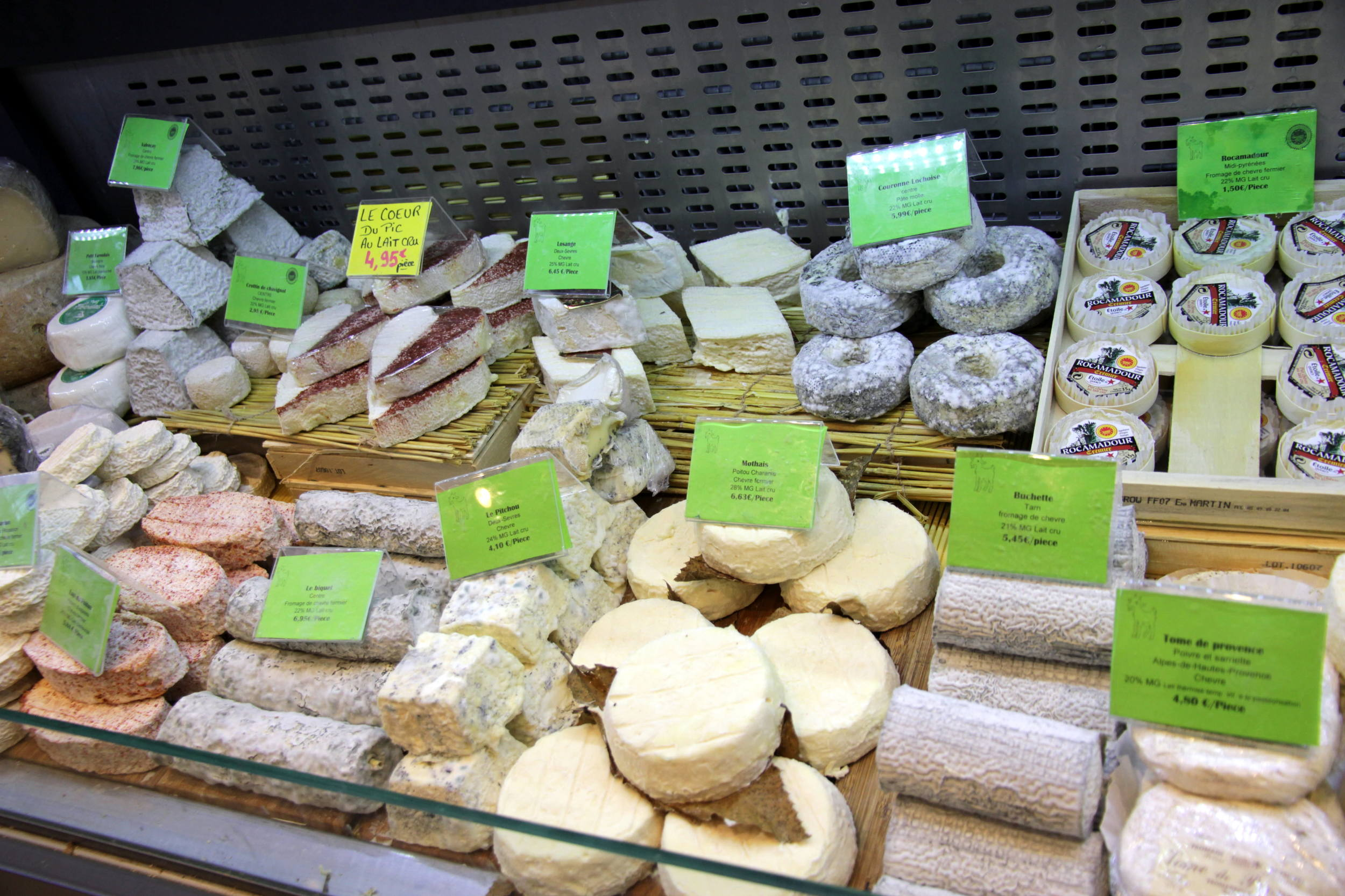 A range of chèvre (goat's cheese) to choose from.