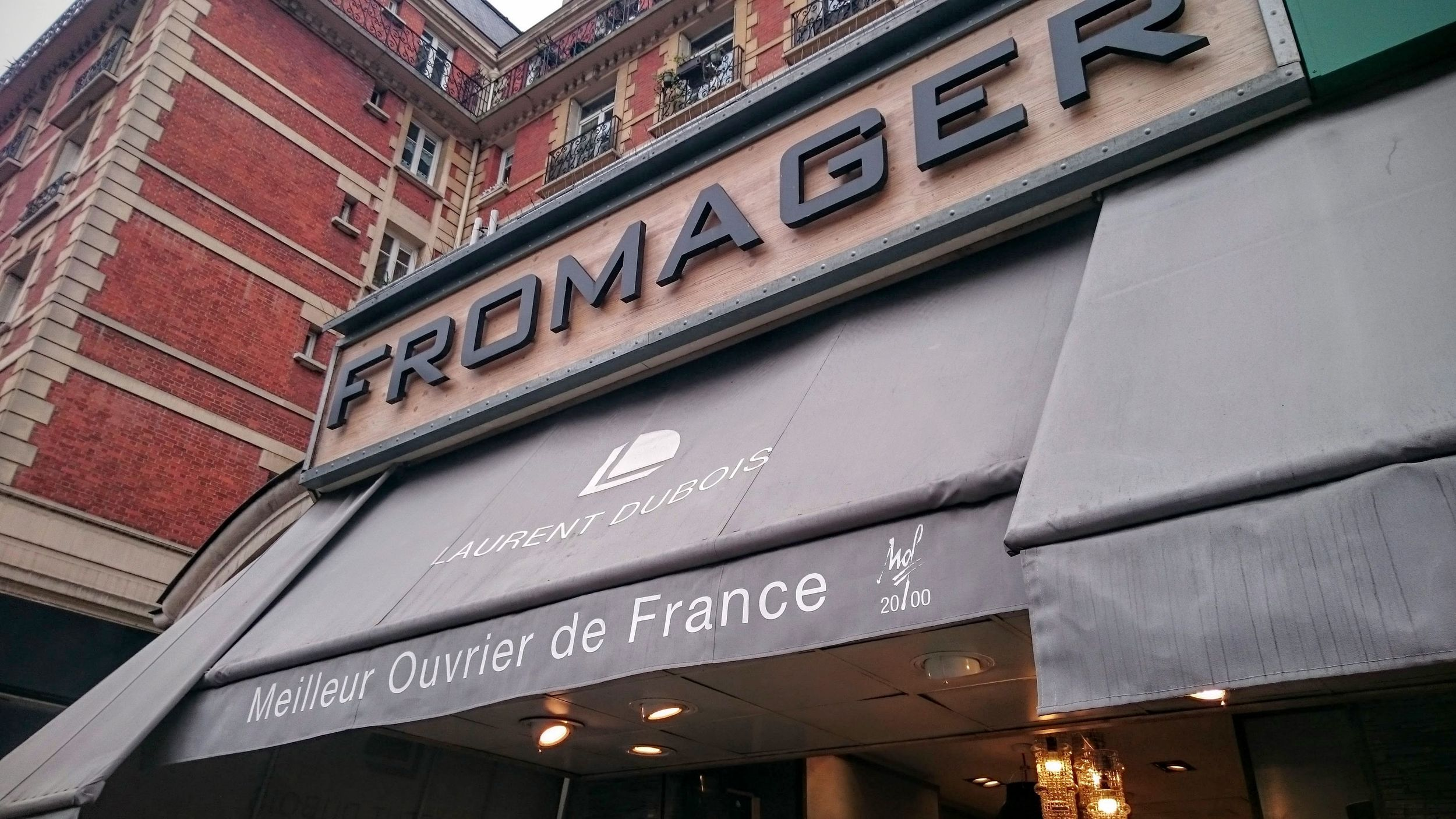 Fromagerie Laurent Dubois at the marché Maubert