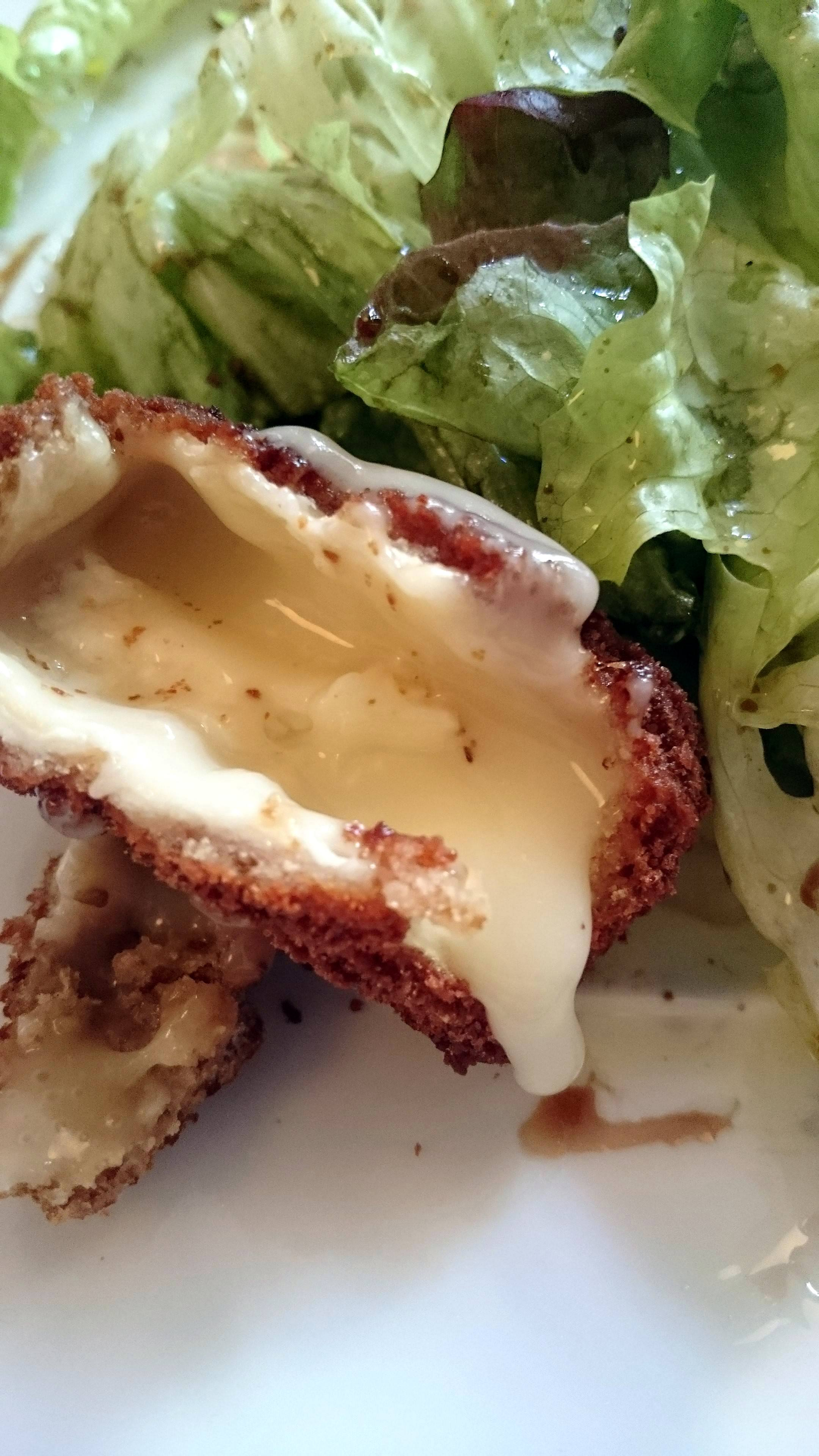 Fried camembert, after.