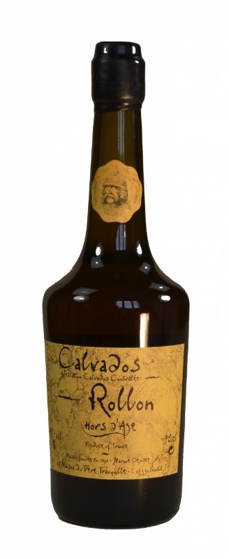 Calvados Rollon Hors d'âge : fruité avec des notes de bois et cannelle.