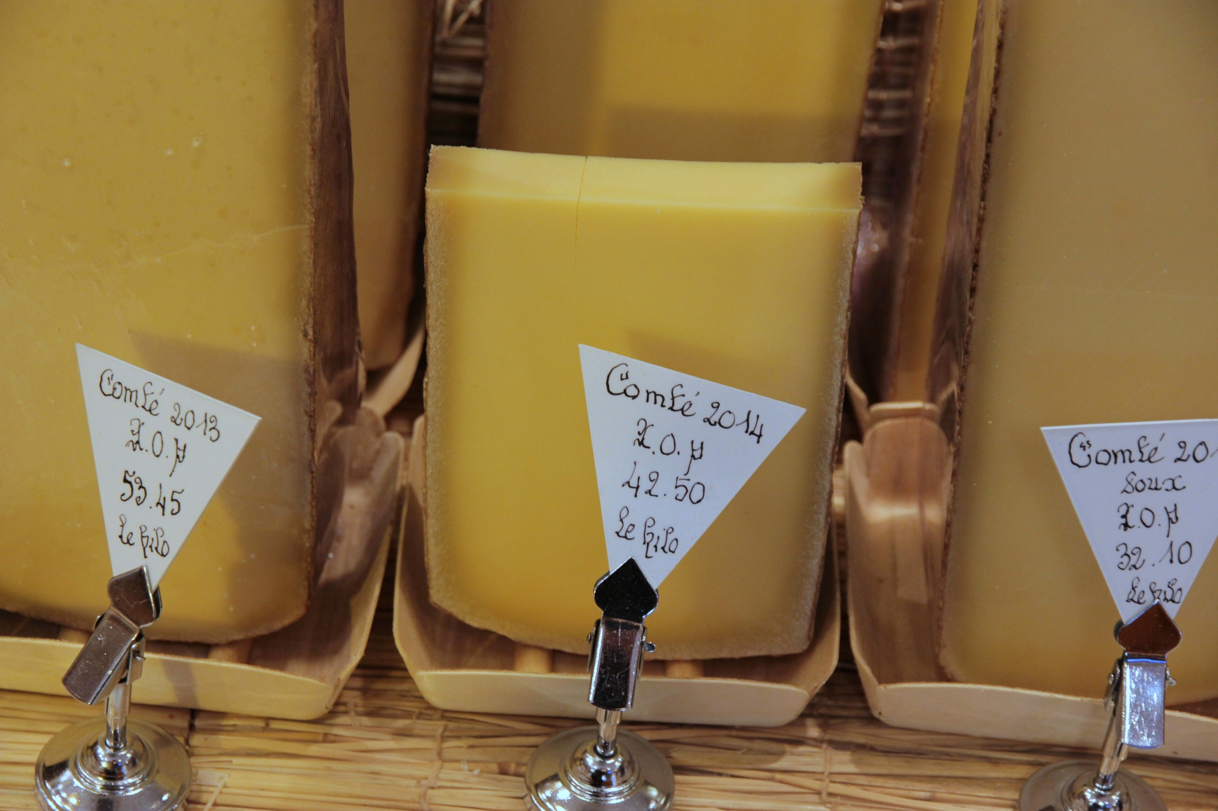 The 2014 comté was excellent, and even better when paired with a wine from the Jura region.