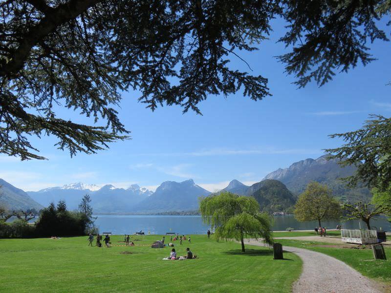 Le lac d'Annecy circa notre visite en 2015