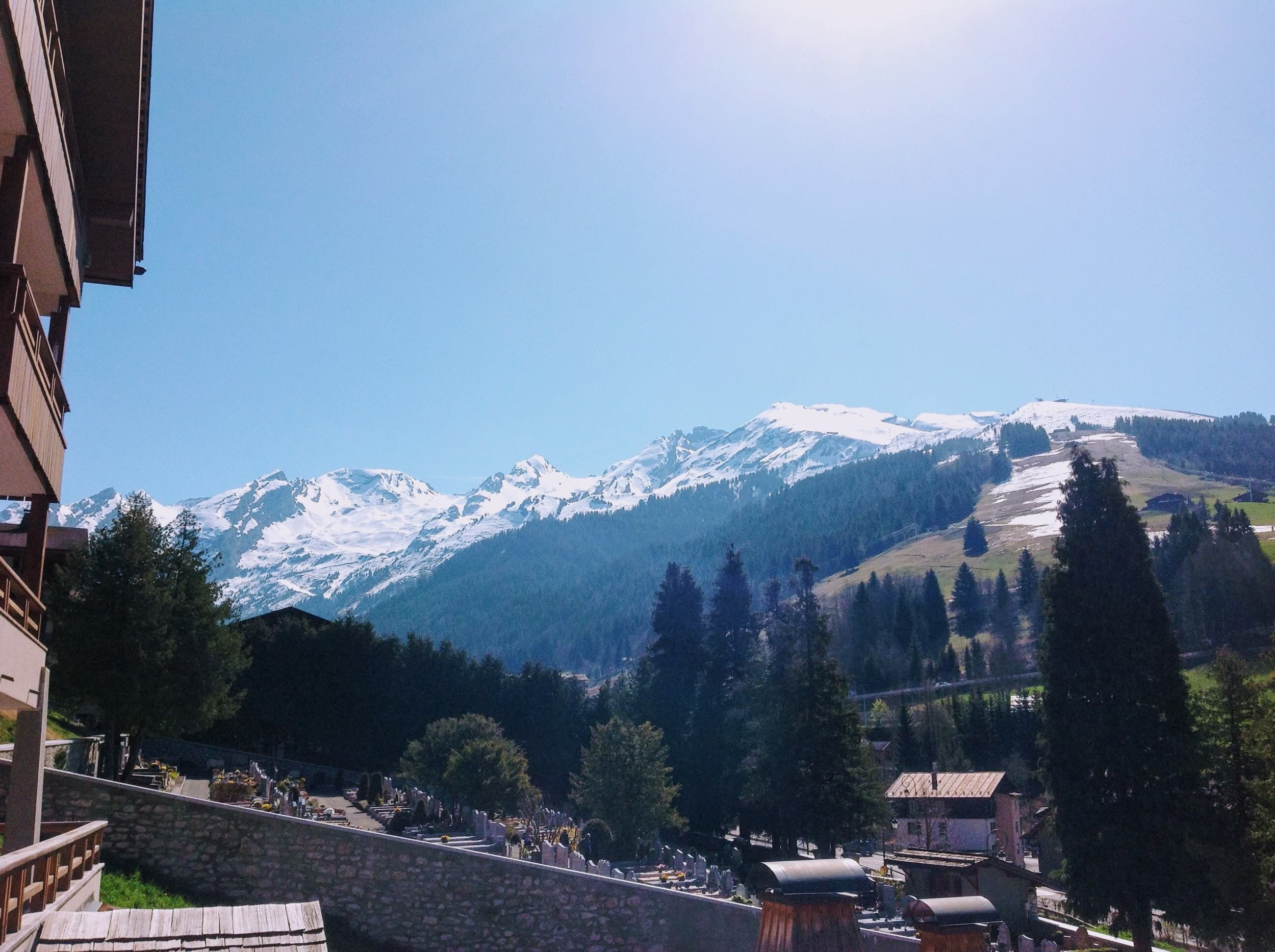 La Clusaz as seen from our balcony!