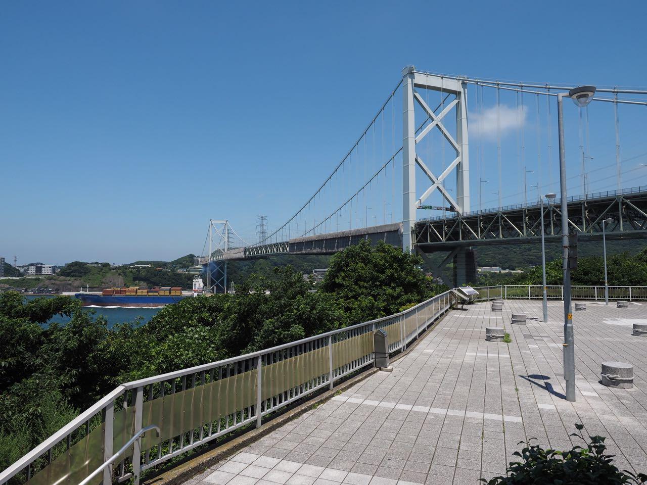 Shimonoseki Bridge from Mekari PA