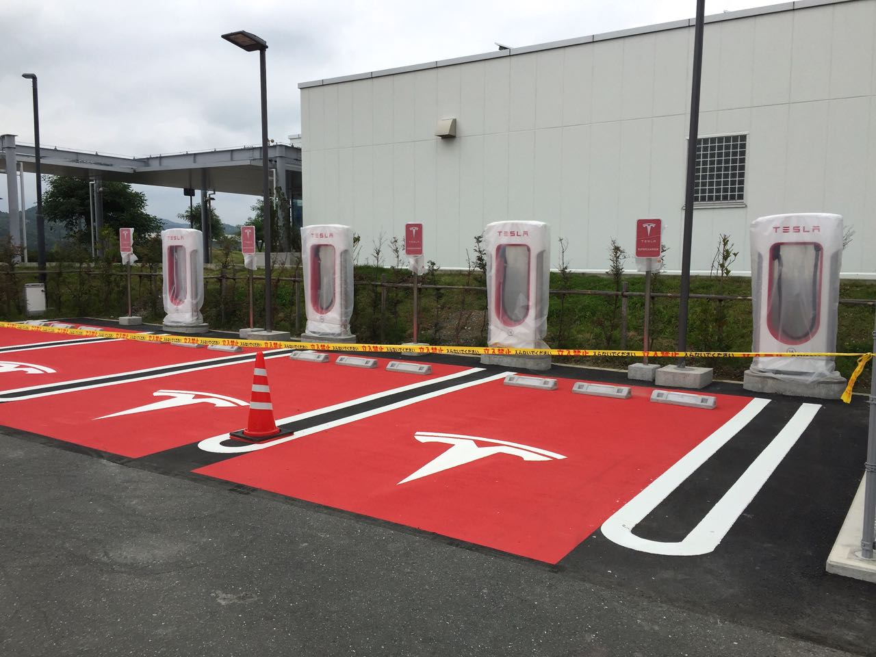Hamamatsu's new superchargers the day before opening