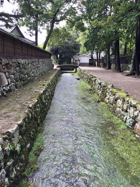 Next door was another shrine. This creek separated the two.