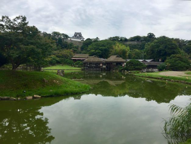 The grounds around Hikone Castle